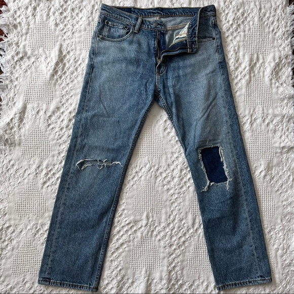 Levi Strauss Men's Ripped Patch Jeans